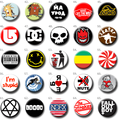 значки, pins, buttons, badges