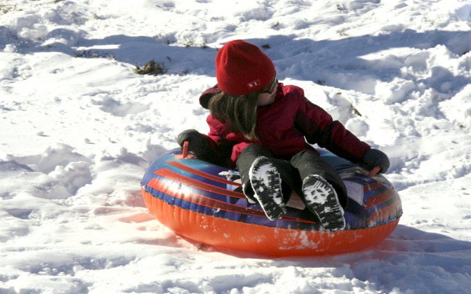 Ватрушка для катания по снегу своими руками