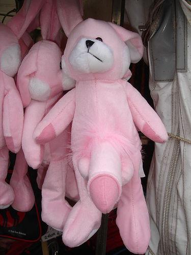 Мягкая игрушка Розовый Заяц